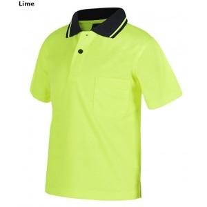 JBs Kids Hi Vis Non Cuff Traditional Polo Short Sleeve