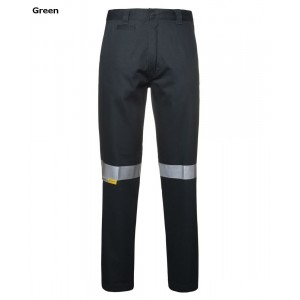 JBs Mercerised Work Trouser With 3M Reflective Tape